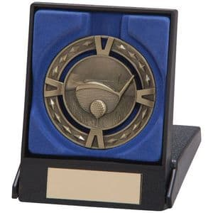 "V-Tech Series Medal - Golf Gold 60mm (2.35"") in Box"