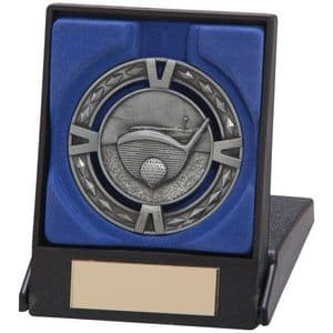 "V-Tech Series Medal - Golf Silver 60mm (2.35"") in Box"