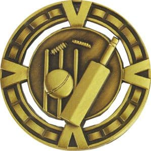 "Varsity Cricket Medal 60mm (2.35"") Gold"