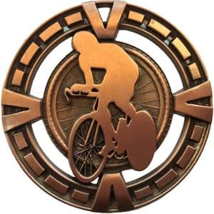 "Varsity Cycling Medal 60mm (2.35"") Bronze"