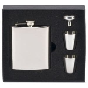 Vision Stainless Steel Hip 6oz Flask & Accessories