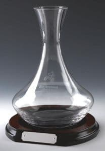 Wine Decanter on Wooden Base
